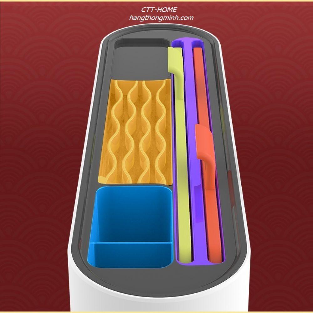 Máy Sấy Khô Tiệt Trùng UV Dao - Kéo - Thìa - Đũa [Kèm 2 Thớt] - Mã XDQ-08