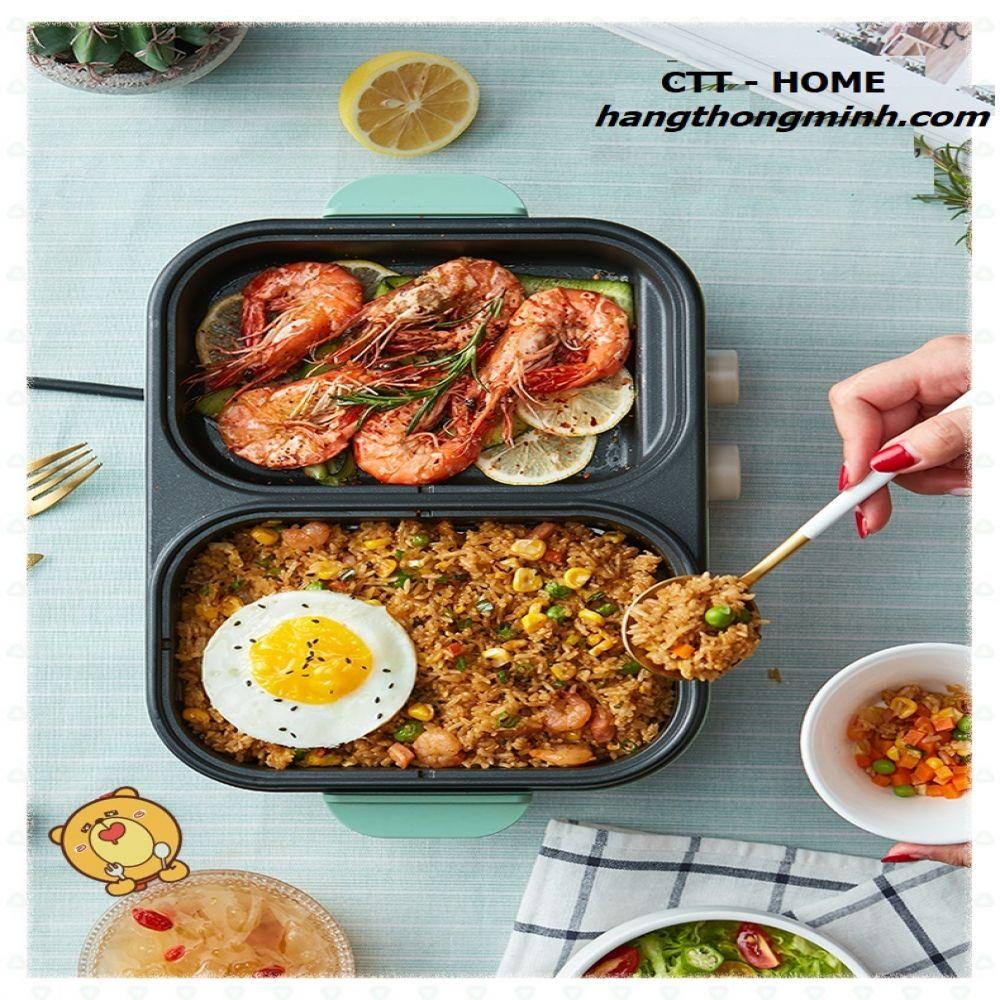 Bếp Nấu Điện 2 Ngăn Đa Năng [Nướng & Lẩu] BEAR DKL-C12D1