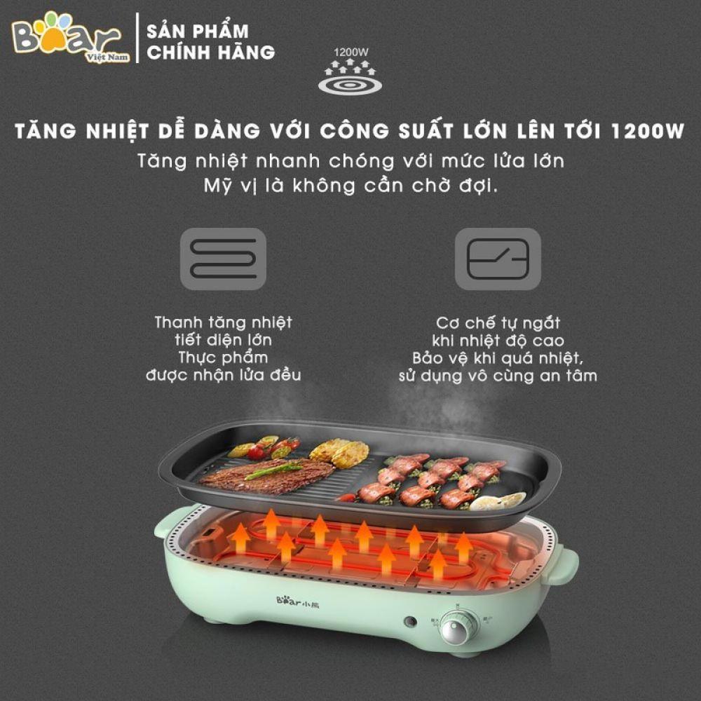 Bếp Điện Đa Năng Nấu Lẩu - Nướng - Chiên 3 Trong 1 - BEAR C40D5