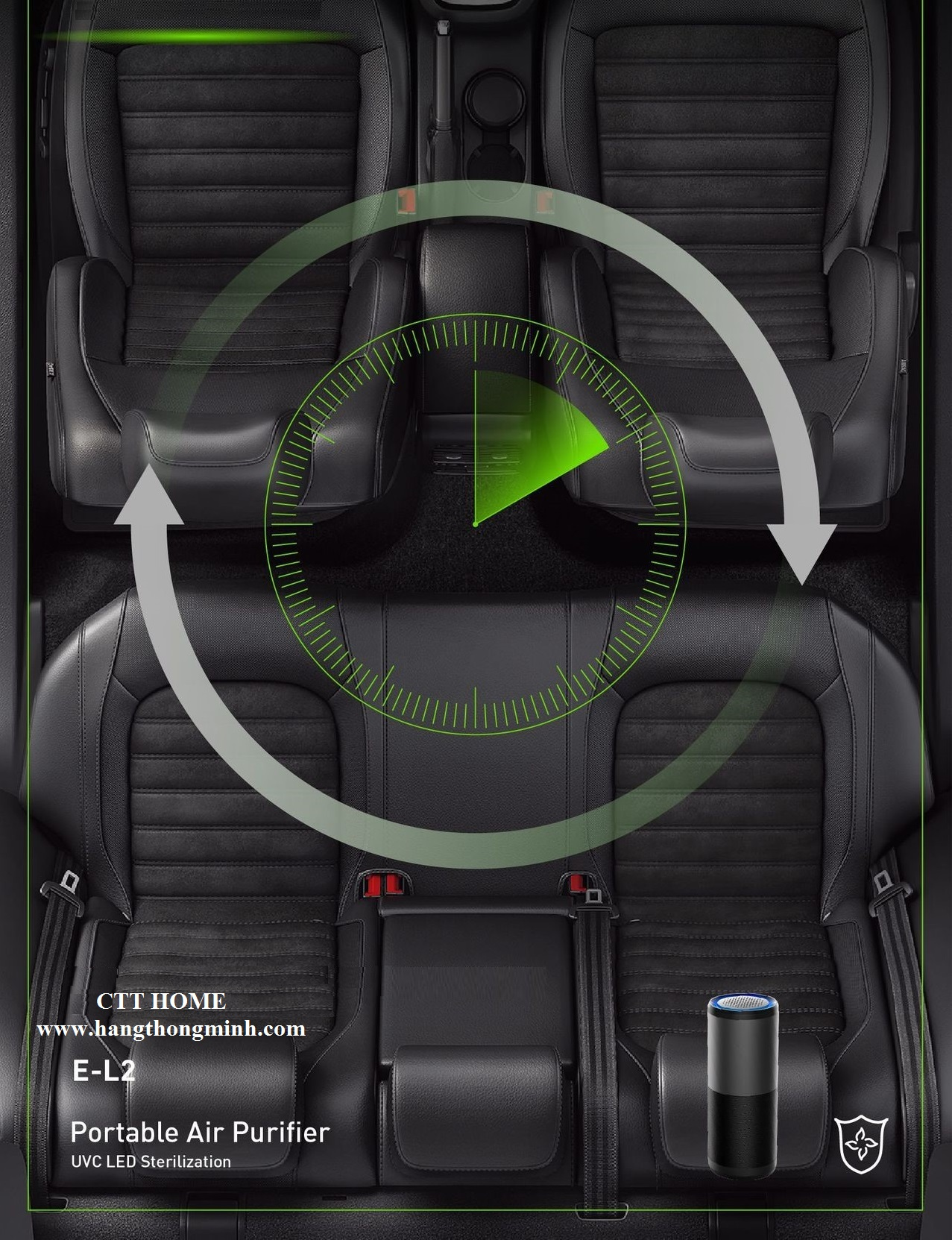 máy lọc không khí ô tô khử mùi hôi trên xe hơi diệt khuẩn Easy Care