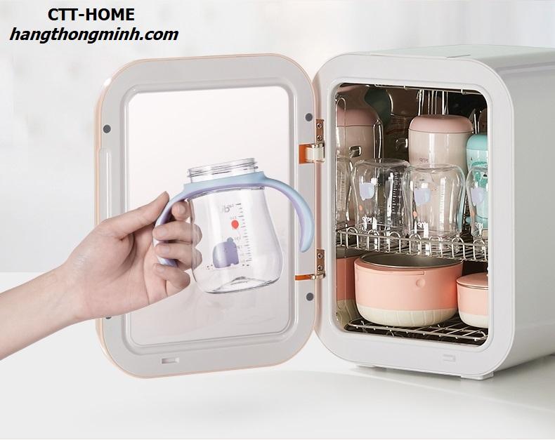 máy tiệt trùng sấy khô bình sữa tia uv diệt khuẩn giá rẻ