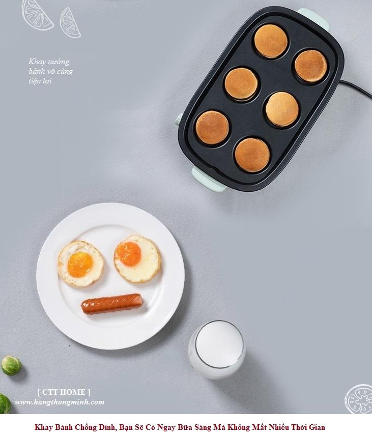 bếp nấu điện mini đa năng lẩu chiên nướng 3 khay rời Bear C40D5