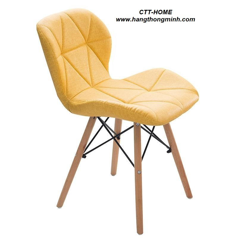 ghế ăn - cafe - tiếp khách bọc nệm vải chân gỗ hiện đại sang trọng