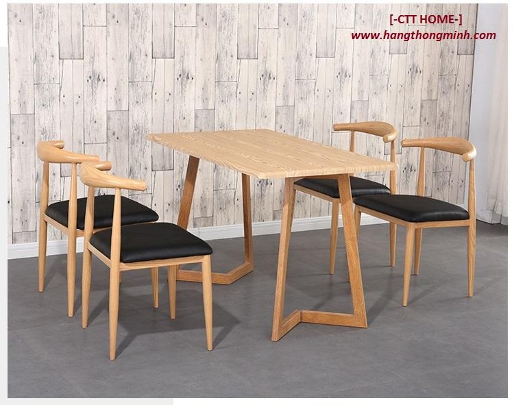 ghế bull, ghế sừng bò, ghế ăn, cafe màu gỗ cổ điển sang trọng