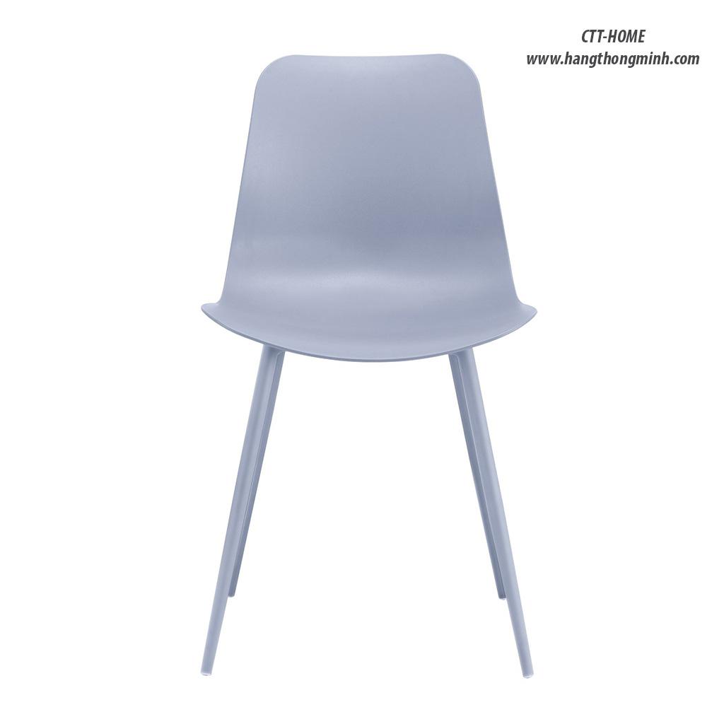 ghế ăn gia đình, ghế cafe tiếp khách lưng nhựa chân thép giá rẻ tphcm
