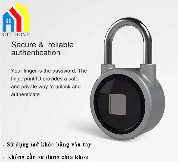 ổ khóa cảm ứng vân tay bluetooth fb50 cao cấp giá rẻ