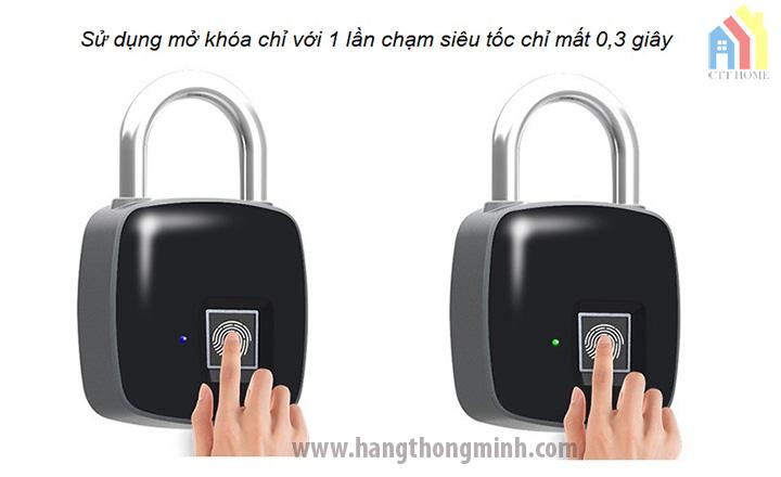 Ổ Khóa Cảm Ứng Vân Tay Nikeer P3