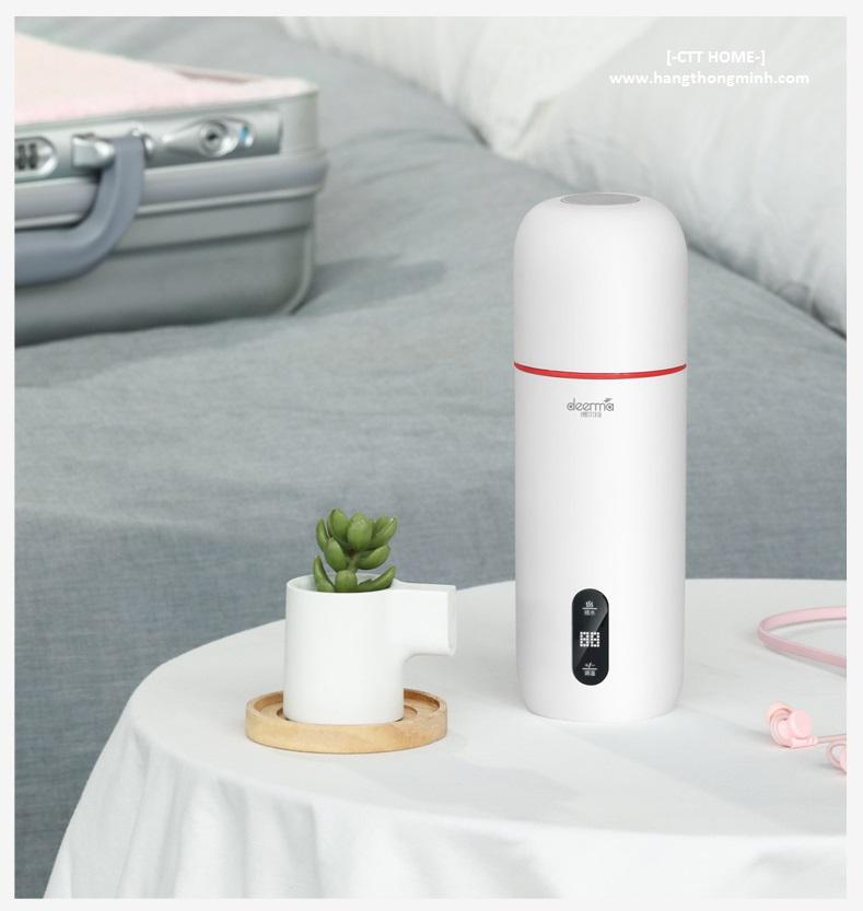 ấm bình đun nước hâm sữa pha trà hiển thị nhiệt độ deerma dr035